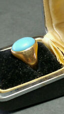 OLD Vintage 10K GOLD TURQUOISE RING 5.9 grams