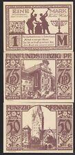 GERMAN NOTGELD 1921 x3 BANKNOTES