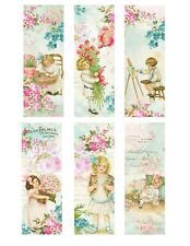 Set of 6 Victorian Fabric Bookmark Panels - Great 4 Quilts, Bags, Stockings, etc