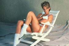 Jamie Lee Curtis Sexy Full Length White Bikini Reclining Chair 11x17 Mini Poster