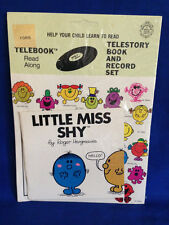 Vintage 1982 Little Miss Shy Roger Hargreaves Read Along Telestory Book Record