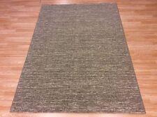 Plain Grey Natural Modern Contemporary Dense Quality Wool Rug 60x110cm 50 off