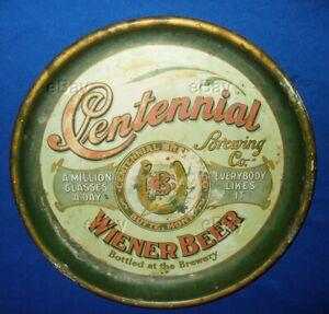 ANTIQUE CENTENNIAL BREWING WIENER BEER TRAY 1876 BUTTE MONTANA PRE-PROHIBITION