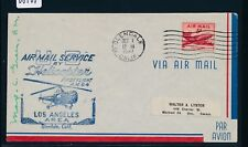 08567) Helikopterpost USA, Glendale - (Los Angeles?) 1.10.47, signed