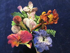All Velvet Millinery Flower Pansy Blue Rust Lilac Plum for Hat Bridal + Hair Nv9