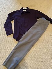 Boys Dress Outfit/ Dress Pants Button down Long sleeve Shirt/ Size 8
