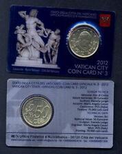 VATICANO 50 Centesimi 2012 Coin Card N.3