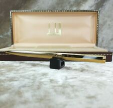 Authentic Dunhill Ballpoint Pen Gemline Gold Plated Marble Brown Clip with Case