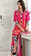 *GUL AHMED*PINK MIX EMBROIDERED UNSTITCHED SUIT +CHIFFON DUP-EA-22