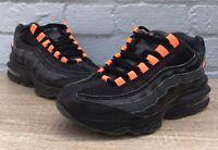 Nike Air Max 95 Uk Size 5 Black Orange Trainers AR0010-001