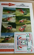 Decals 1/24 réf 550 Peugeot 206 wrc Gronholm 1er New Zélande 2003