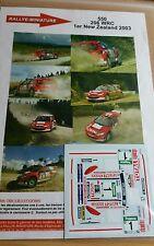 DECALS 1/24 REF 550 PEUGEOT 206 WRC GRONHOLM RALLYE NOUVELLE ZELANDE 2003 RALLY