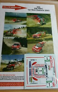 Decals 1/18 Ref 550 Peugeot 206 WRC Gronholm Rally New Zealand 2003 Rally
