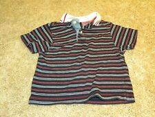 Tommy Hilfiger Toddler Boys Red Blue White Stripe Polo Top Size 12 18 months