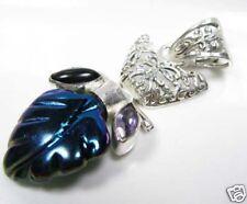 925 Argento Titanio colore Agata/Onyx/AMETISTA un pendente