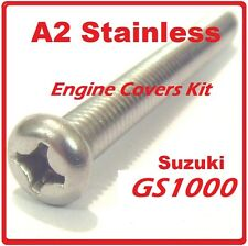 Suzuki GS1000 Engine Covers Kit - Stainless Philips