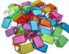 50 x Key Tags MIXED. Bulk colour ID keytag key ring labels keyring Plastic