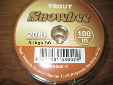 Snowbee Braided Dacron High Tenacity Low Diameter Fly Line Backing 100Yds 20Lbs