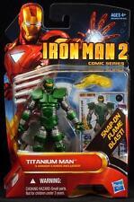 "2010 HASBRO IRON MAN 2 TITANIUM MAN 4"" SCALE ACTION FIGURE MOC"