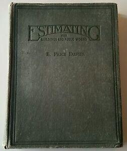 VINTAGE BOOK.1943.ESTIMATING FOR BUILDINGS & PUBLIC WORKS.524 PAGES.PROP.DISPLAY