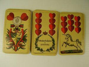 Antikes Kartenspiel Gebrüder Bechstein in Altenburg vor 1945 (fk)