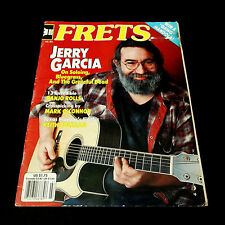 Grateful Dead Jerry Garcia Frets Magazine 1985 July Garcia Kahn Acoustic Guitar