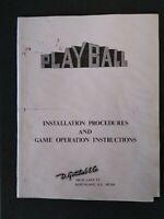 Gottlieb Playball Pinball Machine Wiring Diagram Schematic Manual Set 1971