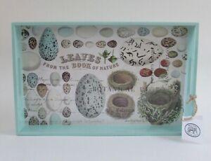 MICHEL Design Works Spring/Easter Nest & Eggs Decoupage Wooden Serving Tray