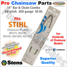 """14"""" Bar & Chain (.050) Stihl Chainsaws MS171, MS180, MS181, MS190T, MS191T"""