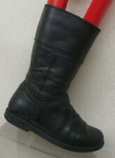 Geox Black Leather Side Zip Knee High Boots Youth Size 30 EUR GUC