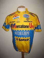 Mercatone Uno Medeghini jersey shirt cycling maglia ciclismo maillot size 6, XL