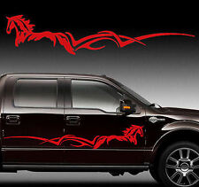 """Horse Stripe Pony Horse Decal Graphic Truck Trailer 60"""" Choose Color"""