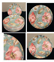 "Better Homes & Gardens Melamine 8.5"" Salad Plates ANNABEL FLORAL Set of 8"