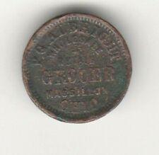 Civil War Store Card Token Massilion Oh Pg Albright Grocer Fuld 535A-6A 1225 R6