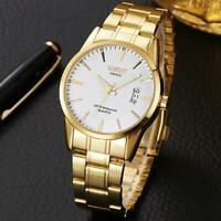 Herren Edelstahlband Casual Analog Quarz Gold Armbanduhren Geschenk 2020