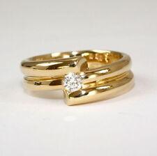 Brillantschliff Echtschmuck-Ringe aus Gelbgold mit SI Reinheit