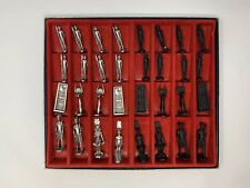 Pewter Egyptian Chess set by SAC Rare Early Set