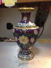 Cloisonne/Brass Vase-Fans-Perfect-sc