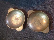 2 Brass Bowl/dish - India -handled