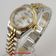 26mm parnis silver dial 21 jewels date miyota automatic Luxurious womens watch