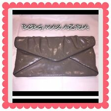 BCBG MaxAzaria Clutch Gray Patent Leather Gorgeous Sexy Classy MUST SELL SALE
