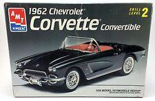 AMT/Ertl 1962 Chevrolet Corvette Convertible 1:25 Scale Model Kit 6489 NEW