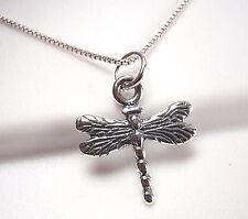 Very Small Dragonfly Pendant 925 Sterling Silver Corona Sun Jewelry entomologist