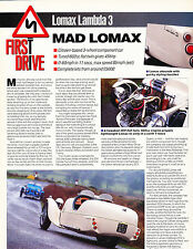 1994 Lomax Lambda 3 Original Car Review Print Article J372