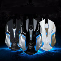 Gaming Mouse 4 Button USB Wired LED Breathing Fire Button 1600 DPI Laptop PC USA