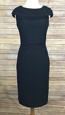 Kay Unger Figure Flattering Bodycon Blue Ruched Sleeveless Lined Dress Sz 2