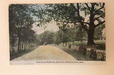 1914 Postcard Road By Sanitarium Spot Pond Middlesex Fells MA PM Melrose MA