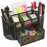 MOCREO Desk Tidy Mesh Desk Organiser Set Office Tidy Organiser Desk Caddy Tray M