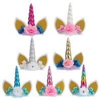 Unicorn Horns Cake Topper BirthdayBaby Shower Party Supplies DIY Decor  Latest