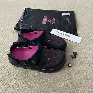 Post Malone X Crocs Duet Max Clog II Size M9 / W11 Black Pink